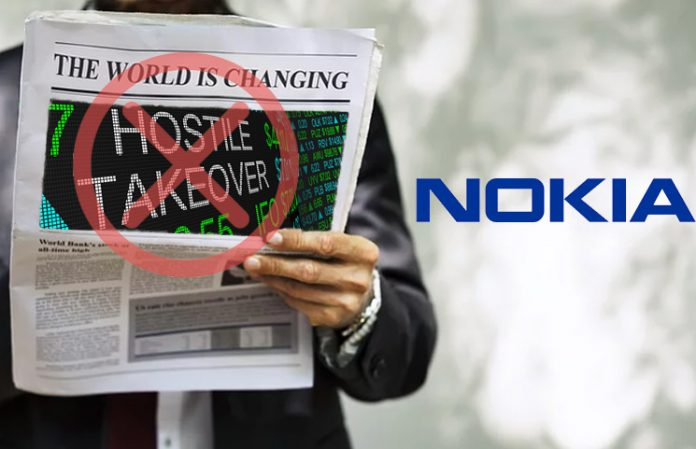 Nokia Declines to Comment on Rumored Hostile Takeover Attempt