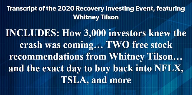 About the 2020 Recovery Investing Event
